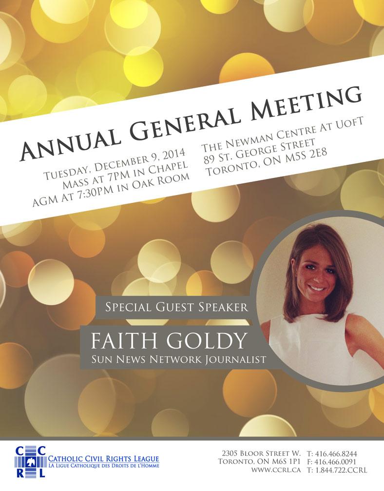 CCRL AGM 2014 Faith Goldy